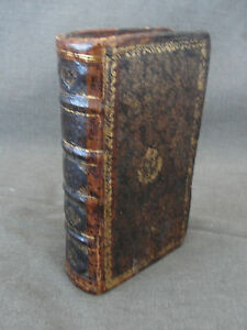 Antique 1724 Stash Book w/ Secret Compartment Lettres Historiques