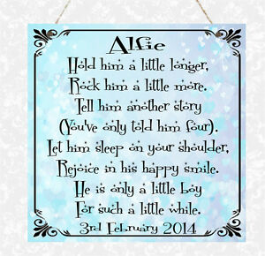 Personalised Poem New Baby Birthday Girl Boy Christening Mummy Daddy