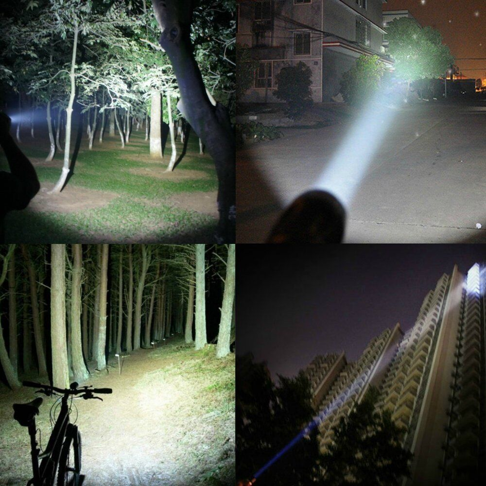T6 Tactical Military LED Flashlight Torch 50000LM Zoomable 5-Mode for 18650 9
