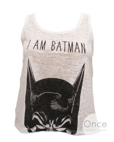 """Primark Official Ladies DC COMICS /"""" I AM BATMAN /"""" Slogan T Shirt VEST TOP"""