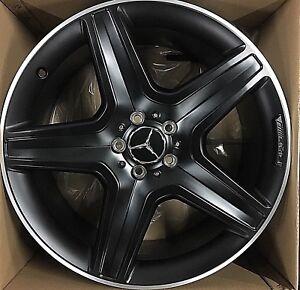 Mercedes Benz Rims >> 20 Mercedes Benz Oem Wheels Rims Ml550 Gl63 Amg Powder Black Gls Gl