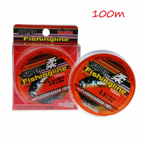 Super Strong Fishing Tackle Line 100m Japanese Nylon Transparent Fluorocarbon CA