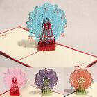 Happy Birthday Card Wheel Best Wish 3D Pop Up Wedding Card Greeting Cards
