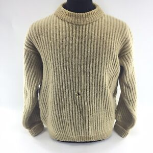 Vtg-Abercrombie-Fitch-100-Wool-Sweater-Cable-Knit-Made-In-England-Sz-44-N3A