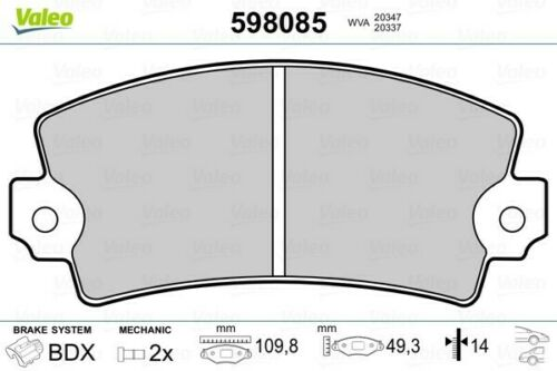 für RENAULT ESPACE II 4 5 ValeoBremsbeläge Vorne 598085