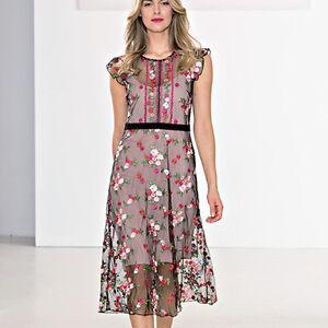 Robe Noir Robe Tulle Femme Fleurs 44 Kartika 46 Rose xrp041wxnR
