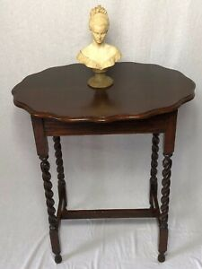 1-Fine-Antique-Jacobean-Style-Oak-Barley-Twist-Oval-Occasional-Hall-Side-Table