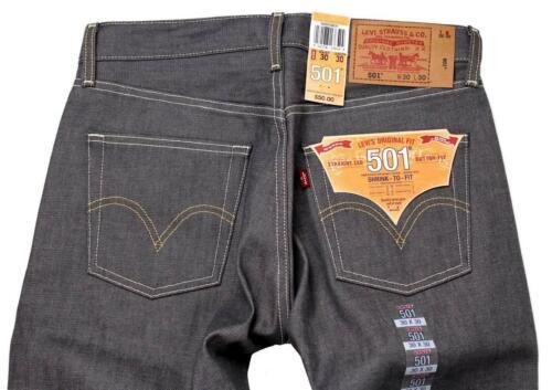 Levi/'s 501 Men/'s Original Fit Straight Leg Jeans Button Fly Gray 501-0631