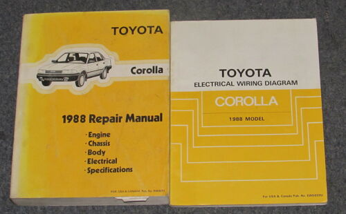 1988 Toyota Corolla Service Repair Manual Set