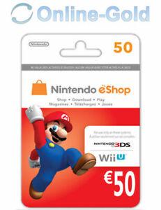 50€ Nintendo eShop Card - 50 Euro Nintendo Codice Download 3DS/WiiU/Switch [IT]