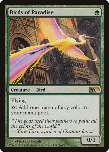 Birds Of Paradise MTG Magic Lightly Played // LP the Gathering Set M12 RARE