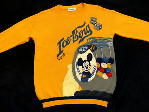 Iceberg Stricki Vintage Pullover Mickey Mouse Gum Bal Walt Disney