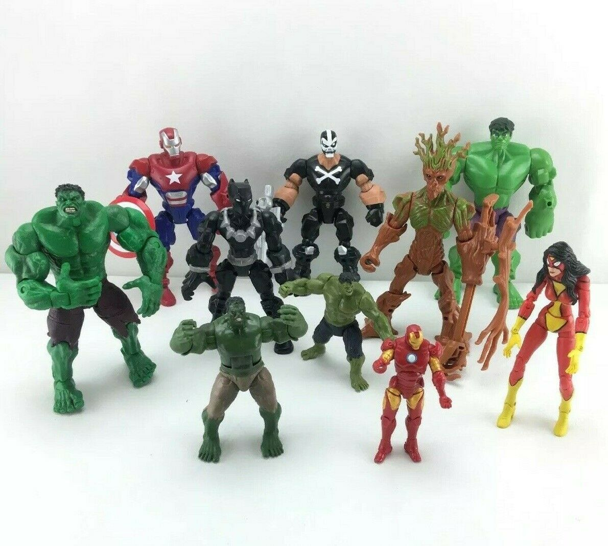 DC Figura De Acción Marvel Hulk Iron Man Los Vengadores Lote-Rápido Envío Gratuito-T02