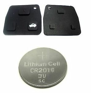 Details about TOYOTA SEQUOIA SIENNA REMOTE KEY FOB RUBBER 2 & 3 BUTTONS  REPAIR KIT + BATTERY