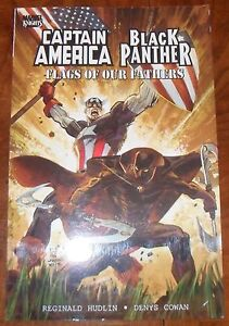 Captain-America-Black-Panther-Flags-of-Our-Fathers-TPB-Marvel-Knights-2010-GN
