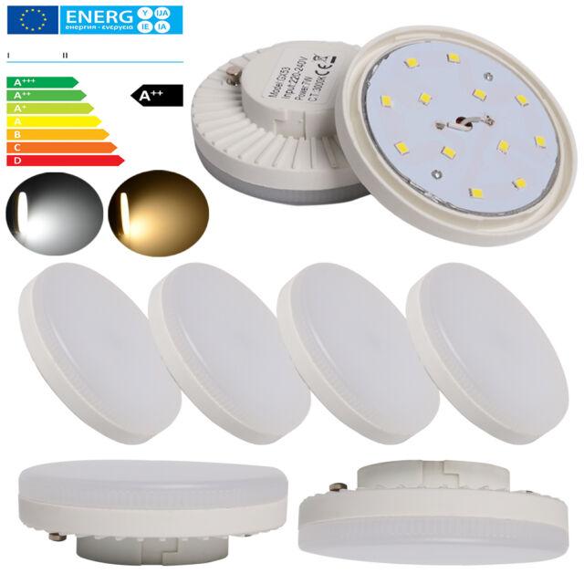 10x GX53 LED SMD LAMPE LEUCHTMITTEL LEUCHTE 7W ENERGIESPARLAMPE nicht dimmbar A+