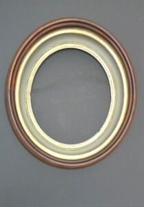 ANTIQUE-PRIMITIVE-VICTORIAN-SOLID-WOOD-FAT-OVAL-DOUBLE-PICTURE-DOVETAIL-FRAME