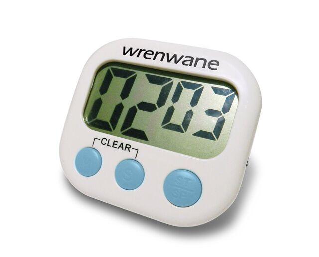 Wrenwane Digital Kitchen Timer, Big Digits, Loud Alarm, Magnetic Backing, Stand,