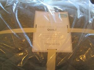 Pottery Barn Kids Heathered Jersey Gray Full Queen Quilt