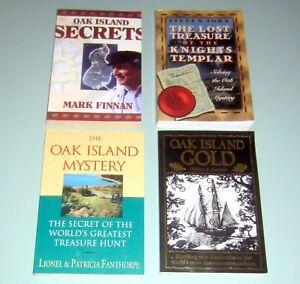 4 Books OAK ISLAND GOLD TREASURE KNIGHTS TEMPLAR Scotland MASONIC Nova Scotia