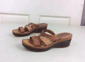 COLE-HAAN-Leather-Wedge-Sandals-Women-s-8