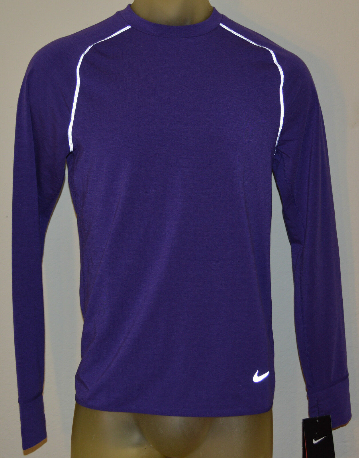 NEW NIKE SPRINT CREW PURPLE REFLECTIVE MENS M RUNNING LONG  SLEEVE SHIRT 598973  wholesale prices