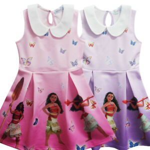 Lovely Girls Kids Moana Sleeveless Party Holiday Birthday Dress B4 Clothing, Shoes & Accessories