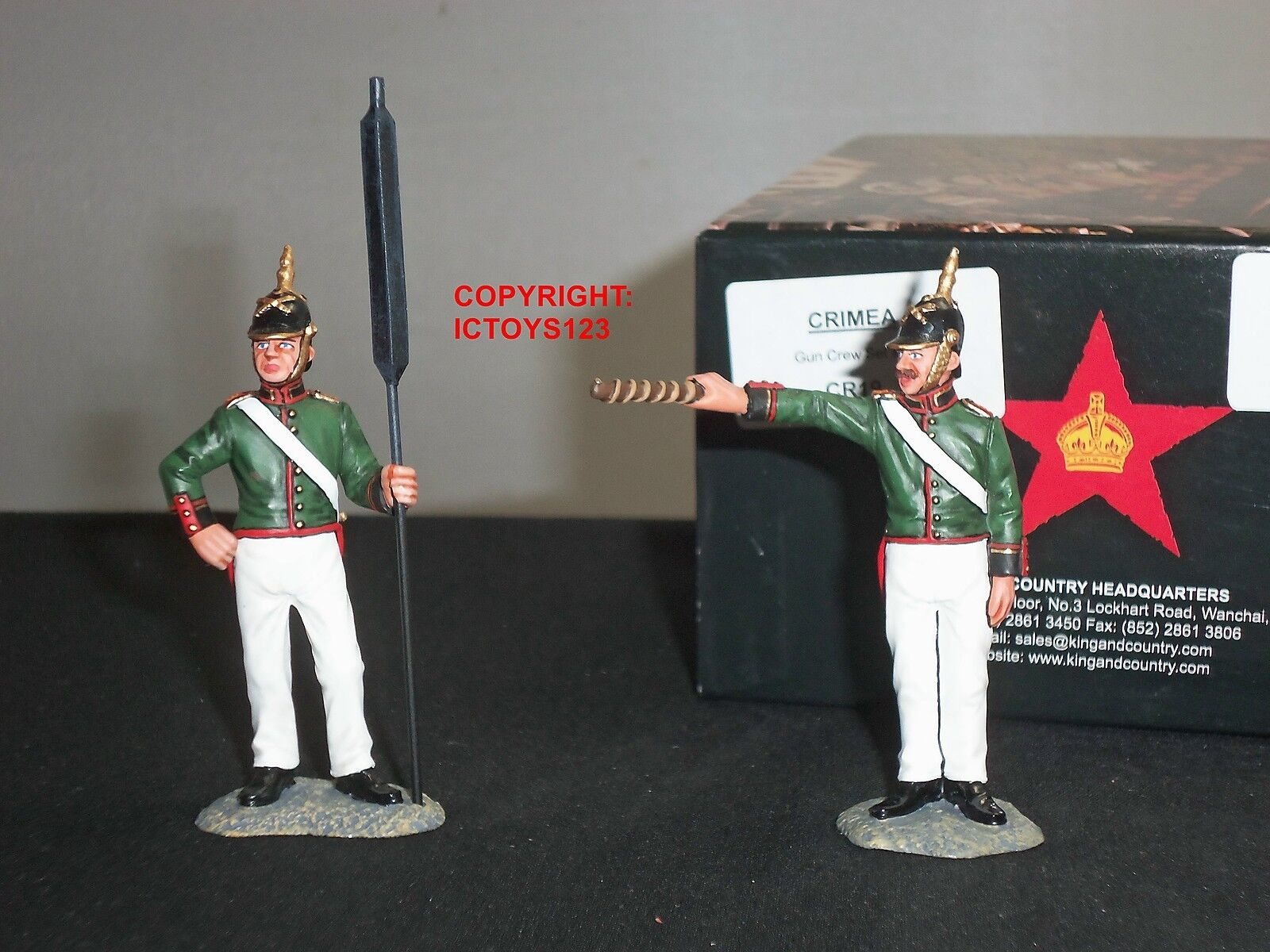 KING AND COUNTRY CR19 CRIMEA RUSSIAN GUN CREW METAL TOY SOLDIER FIGURE SET 2