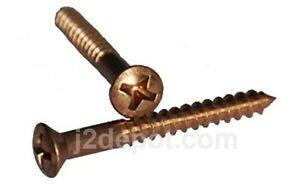 Silicon-Bronze-Wood-Screw-Frearson-Oval-6-x-1-100pcs