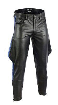 PANTALON Cuir stile Biker Pantaloni Gay Lederhose Aw7860 Uomini Pelle Pantaloni Pantaloni