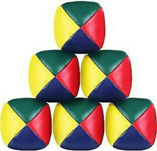 3//6//12//24 Juggling Balls Circus Clown Coloured Learn Juggle Toy Game Soft Ball