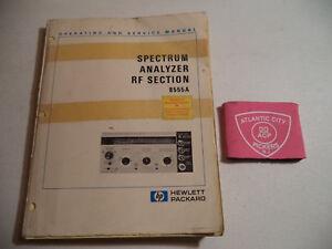 service manual hewlett 8551b spectrum analyzer