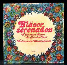 Westdeutsche bläsersolisten Johann Christian Bach & Mozart LP M, CV EX.