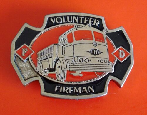 Volunteer Fireman  Belt Buckle