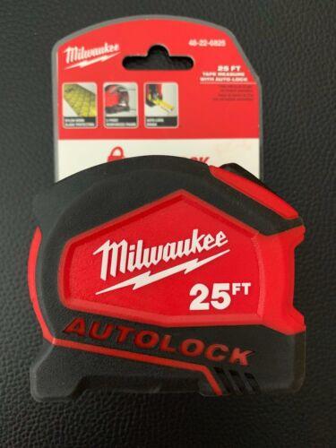 MILWAUKEE TAPE MEASURE 25 Ft Heavy Duty Compact Auto Lock Jobsite Measuring Tool