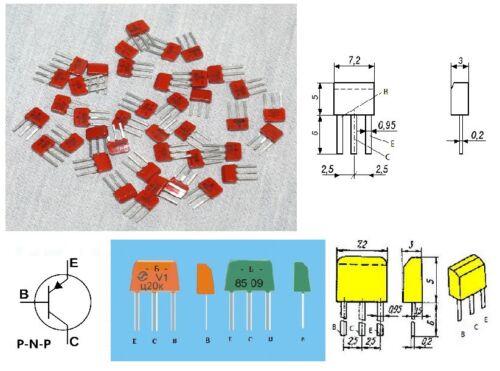 КТ361Б KT361B = BC250B Russian Silicon Transistor PNP Lot of 200 pcs