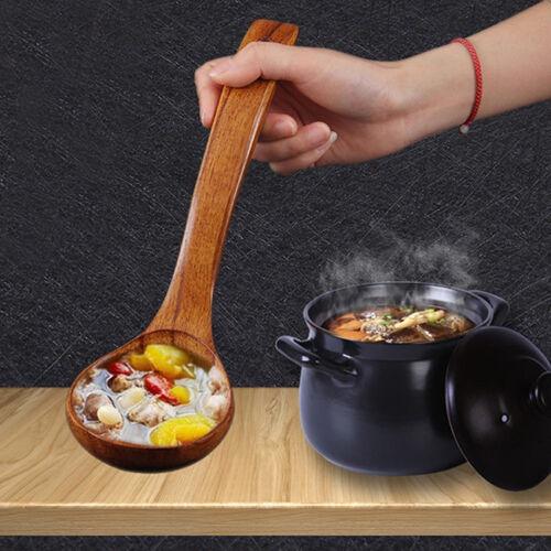 Wooden Bamboo Soup Teaspoon Catering Food Spoon Kitchen CookingTableware CS