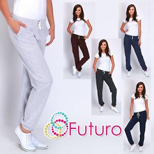 Las Mujeres Sport Elegante Con Puno Pantalones Pantalones Deportivos Bolsillos Chandal Track Deporte Dk Ebay