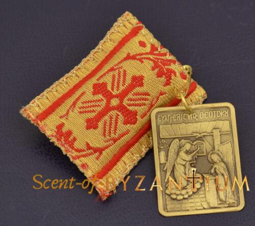 Orthodox Amulet Pendant Rectangular With Metal Icon Filahto Filachto Filakto