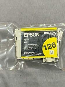 2x-Genuine-Epson-126-Ink-Cartridge-Yellow-BRAND-NEW-FACTORY-SEALED