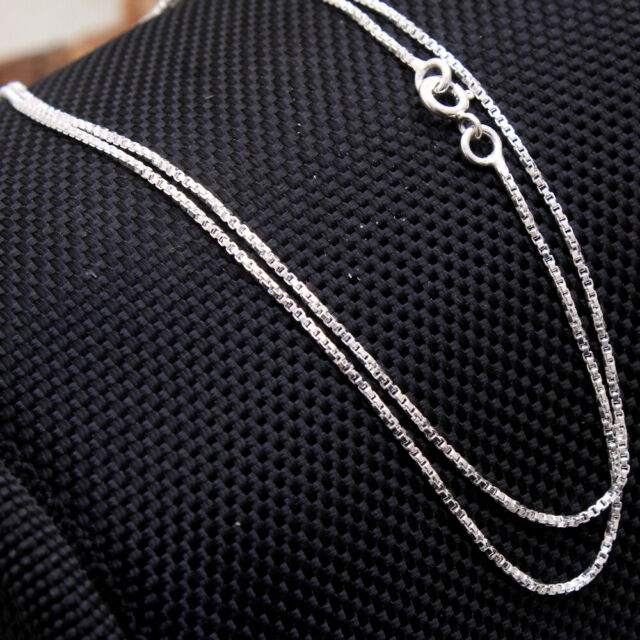 Solid Link chain 925 Sterling Silver Jewelry handmade designer silver necklace