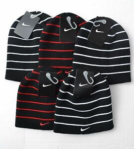 Image is loading Nike-Boys-Youth-Beanie-Striped-Hat-Size-8- ca3b6297af35