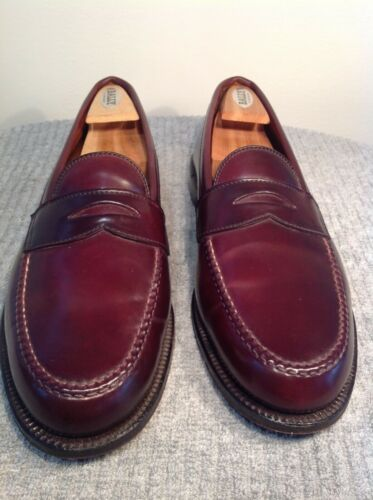 """Alden """"shell cordovan"""" penny loafers US Mens sz 11"""