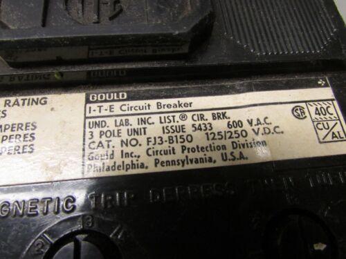 I-T-E FJ3-B150 Circuit Breaker 150 amp