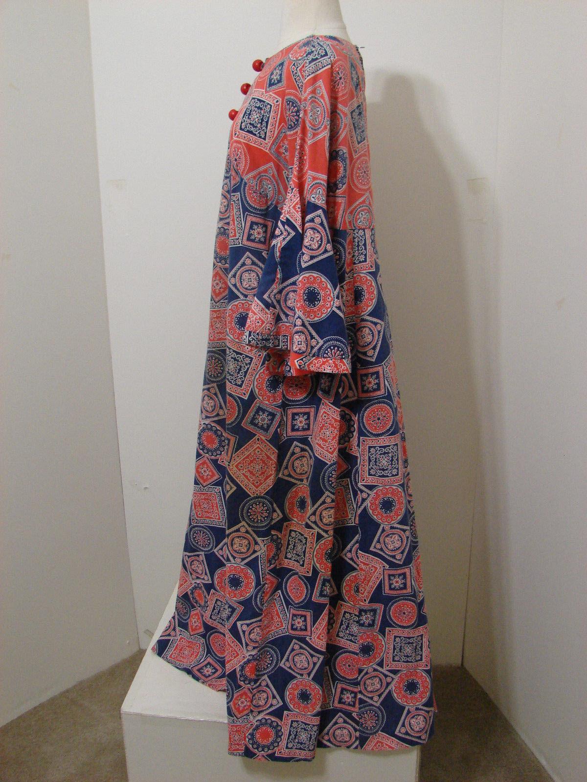 PEGGY LOU Caftan Dress Vintage 1960's Groovy Patc… - image 6