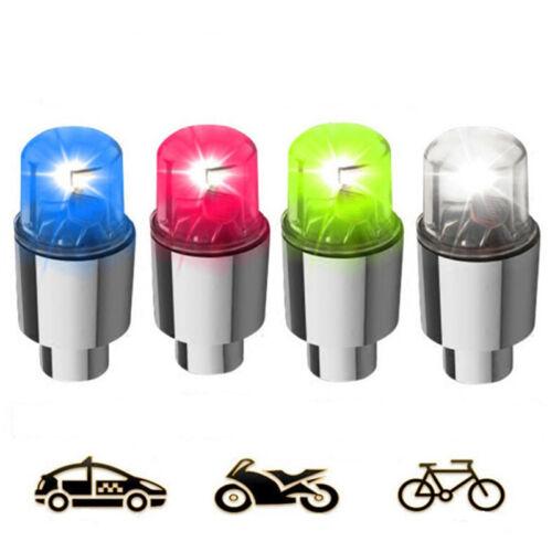 2pcs Bike Car Motorcycle Wheel Tire Tyre Valve Cap Flash LED Light Spoke Lamp US