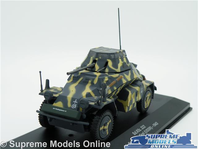 SD.KFZ 222 20 PZ.DIV MODEL TANK OREL USSR 1 43 SCALE 1943 MILITARY ARMY K8Q