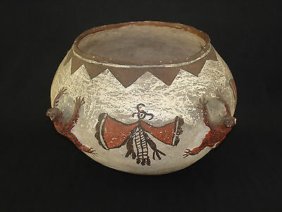 Large Zuni Pottery Frog Jar, Southwest Native American Indian, c.1890
