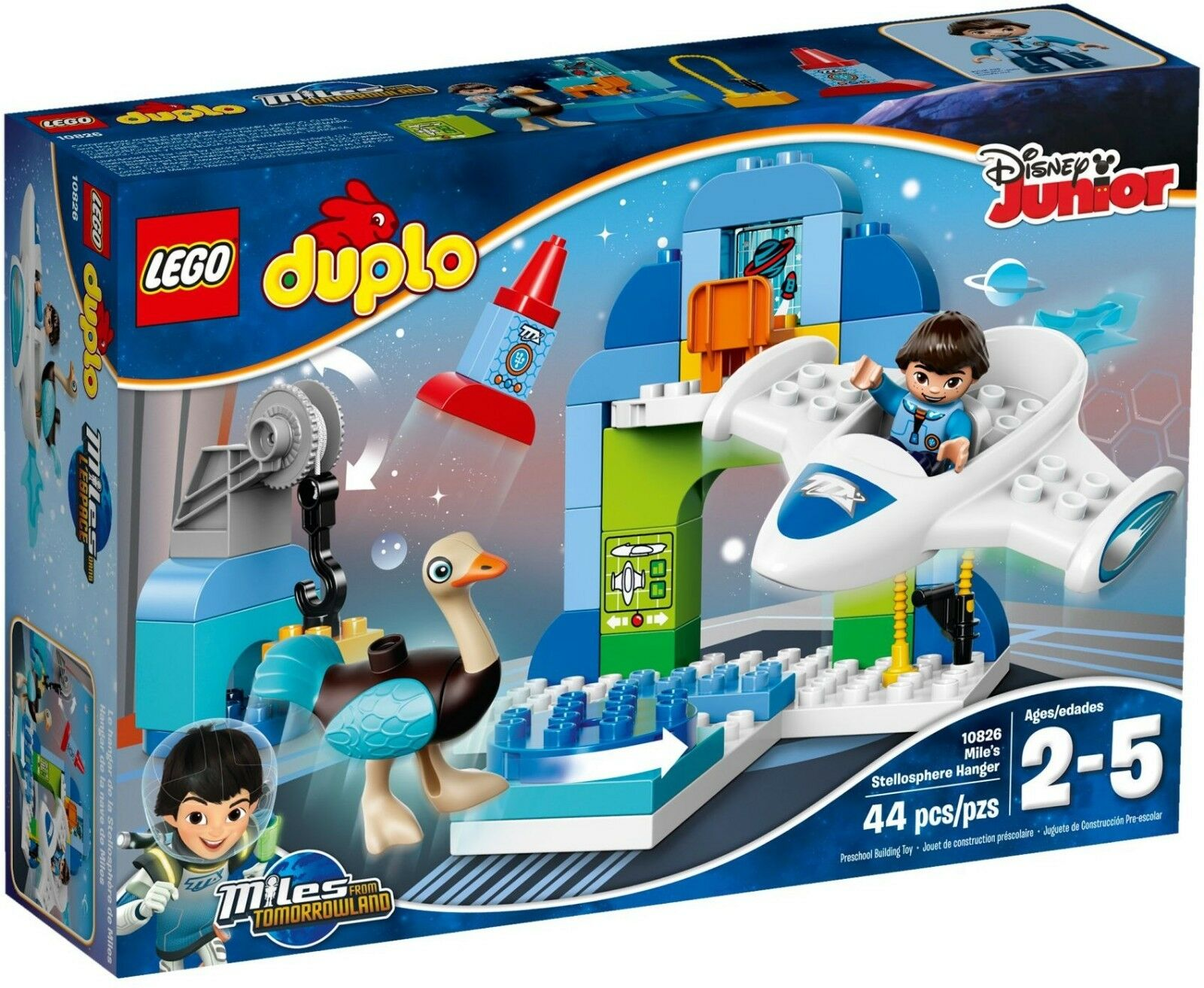 Lego Duplo BNIB 10826 Mile Stellosphere Hangar Miles from tomorrowland