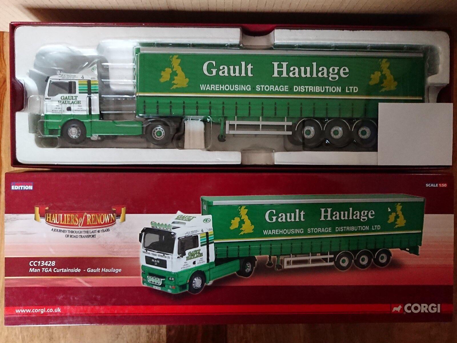 CORGI CC13428 MAN TGA Curtainside Gault Transport LTD ED Nº 0001 de 1730